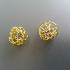 Autres accessoires bijoux lot de 2 boules de metal 20mm dor 8612556 autres accessoia143 54621 236x236