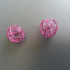 Autres accessoires bijoux lot de 2 boules de metal 20mm ros 8612558 autres accessoi494c df21a 236x236