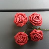 Autres accessoires bijoux lot de 4 fleurs en mousse bordeaux 8000028 barrettes bandec8c1 7d8cf 236x236