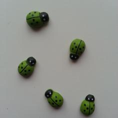 Autres accessoires bijoux lot de 5 coccinelles en bois vert 8816346 bricolage tete 0e77 2103c 236x236