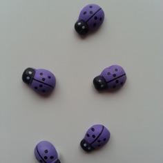 Autres accessoires bijoux lot de 5 coccinelles en bois viole 8816342 bricolage tete 988f 779ed 236x236