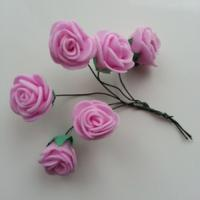 Autres accessoires bijoux lot de 6 fleurs en mousse rose sur 9171785 autres accessoi79ce 04b98 236x236