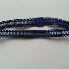 Bandeau élastique ajouré bleu marine