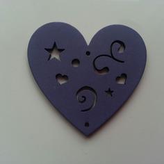 Bricolage coeur en bois de couleur mauve fon 9094955 barrettes b3 bac0ea 84035 236x236