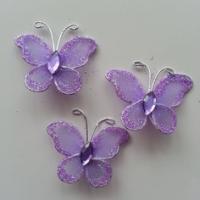 Lot de 3 minis papillons  25*25mm