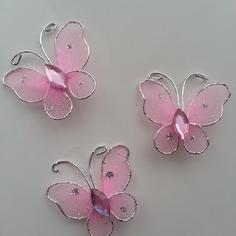 Bricolage lot de 3 minis papillons rose et ar 9166850 supports penden3a54 2881a 236x236
