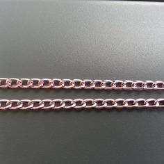 Collier en aluminium ciselé avec fermoir   40CM petit maillon