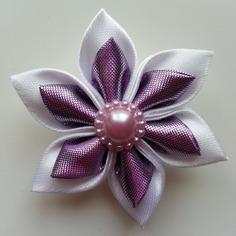 Deco 5 cm fleur de satin blanc et mauve 9344236 decoration flor30cf ee1fd 236x236