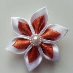 Deco 5 cm fleur de satin blanc et orange 8831214 15785488 1750706936 5e2d0 236x236