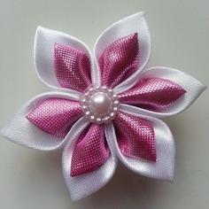 Deco 5 cm fleur de satin blanc et rose b 8831220 15817961 1750701cd8 973c5 236x236
