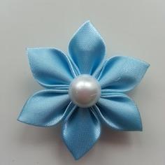 Deco 5 cm fleur de satin bleu ciel petal 8401458 barrettes r5 baf336 409b3 236x236