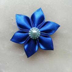 Deco 5 cm fleur de satin bleu petales 8401435 barrettes r5 bac5e3 7bd6d 236x236