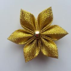 Fleur dorée, or 5cm