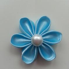 Deco fleur de satin bleu ciel 5 cm 8401460 barrettes r5 ba64b0 a234d 236x236