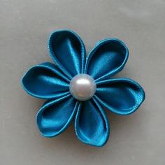 Deco fleur de satin bleu turquoise 5 cm 8401427 barrettes r5 ba808c 20dda 236x236