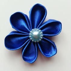 Deco fleur de satin bleue 5 cm 8401432 barrettes r5 ba66ae a4279 236x236