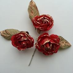 Decoration florale lot de 3 fleurs en tissu rouge et d 9168199 decoration flor9bcd 2bfd6 236x236