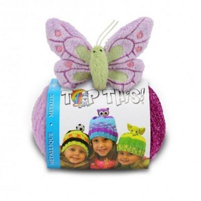 kit bonnet , doudou Top This de DMC papillon