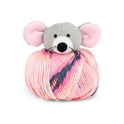 kit bonnet , doudou Top This de DMC souris rose et grise