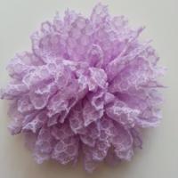 Embellissements applique fleur gauffree mauve 85mm 9288196 20170420 0815431869 6e058 236x236
