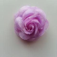 Fleur artificielle en tissu mauve 30mm