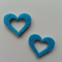 Embellissements lot de 2 coeurs en feutrine bleu 7957215 20160514 134348b548 14181 236x236