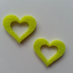 Embellissements lot de 2 coeurs en feutrine jaune 7957217 20160514 13435778a5 0c52c 236x236