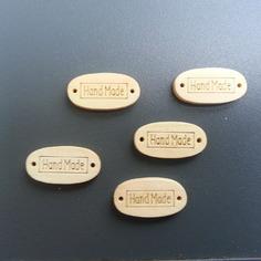Embellissements lot de 5 plaquettes en bois hand m 8586143 supports pendenf347 36c49 236x236