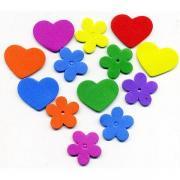 Flower garden foam stickers value pack ek342 30
