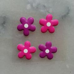 Gommettes 4 stickers fleur autocollant rose e 7689554 gommettes lot d50e1 df7f1 236x236