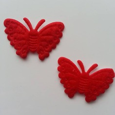 Gommettes lot de 2 papillons en feutrine rou 8376663 13775836 101538e326 f5ee1 236x236