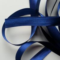 1 metre de ruban  de satin  15 mm bleu marine