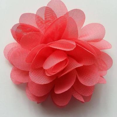 fleur mousseline saumon  60mm