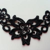 Applique dentelle  collier  11*7cm noir