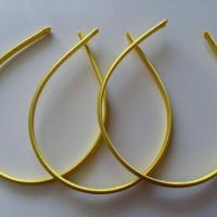 Serre tête recouvert de satin 7mm jaune