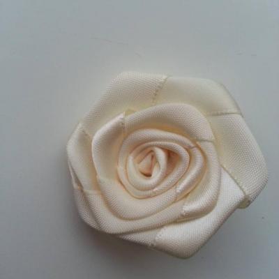 Fleur de satin plate  50mm ivoire