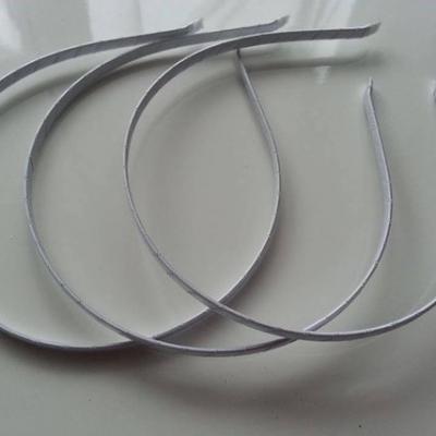 Serre tête métal recouvert de ruban gros grain blanc