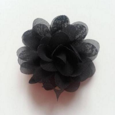 fleur mousseline noir 60mm