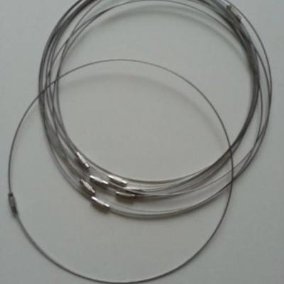 Collier en fil câblé  46cm acier