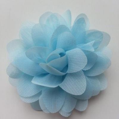 fleur mousseline bleu ciel  60mm