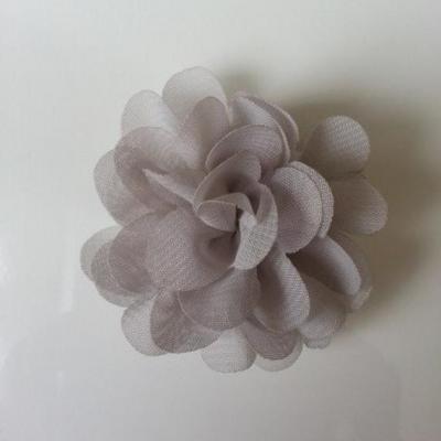 fleur mousseline gris 60mm