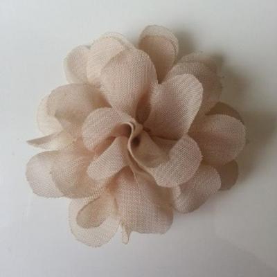 fleur mousseline beige  60mm