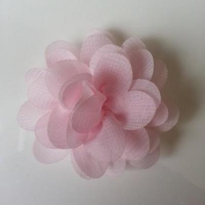 fleur mousseline rose pale 60mm