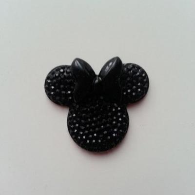 tête de souris  minnie en résine 30*25mm noir