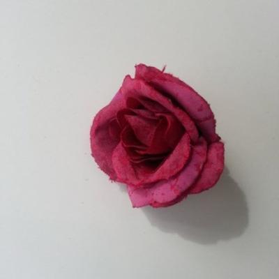 rose en tissu 40mm prune