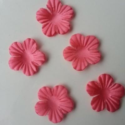 Lot de 5 fleurs en tissu  35mm rose saumon