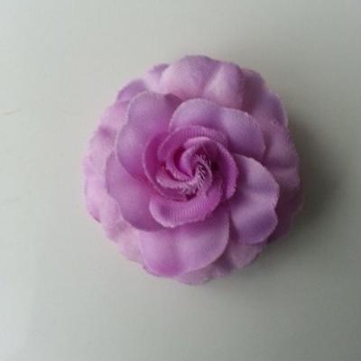 fleur en tissu mauve de 45mm
