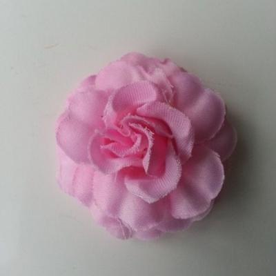 fleur en tissu rose de 45mm