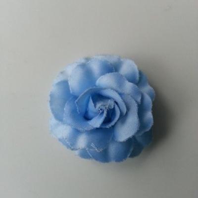 fleur en tissu bleu de 45mm