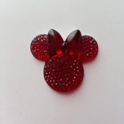 tête de souris  minnie en résine 30*25mm rouge